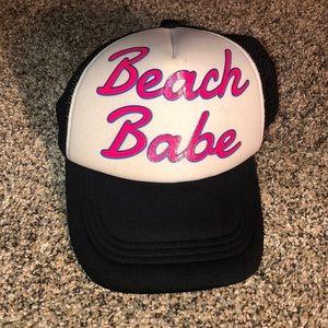 """Accessories - """"Beach babe"""" hat"""